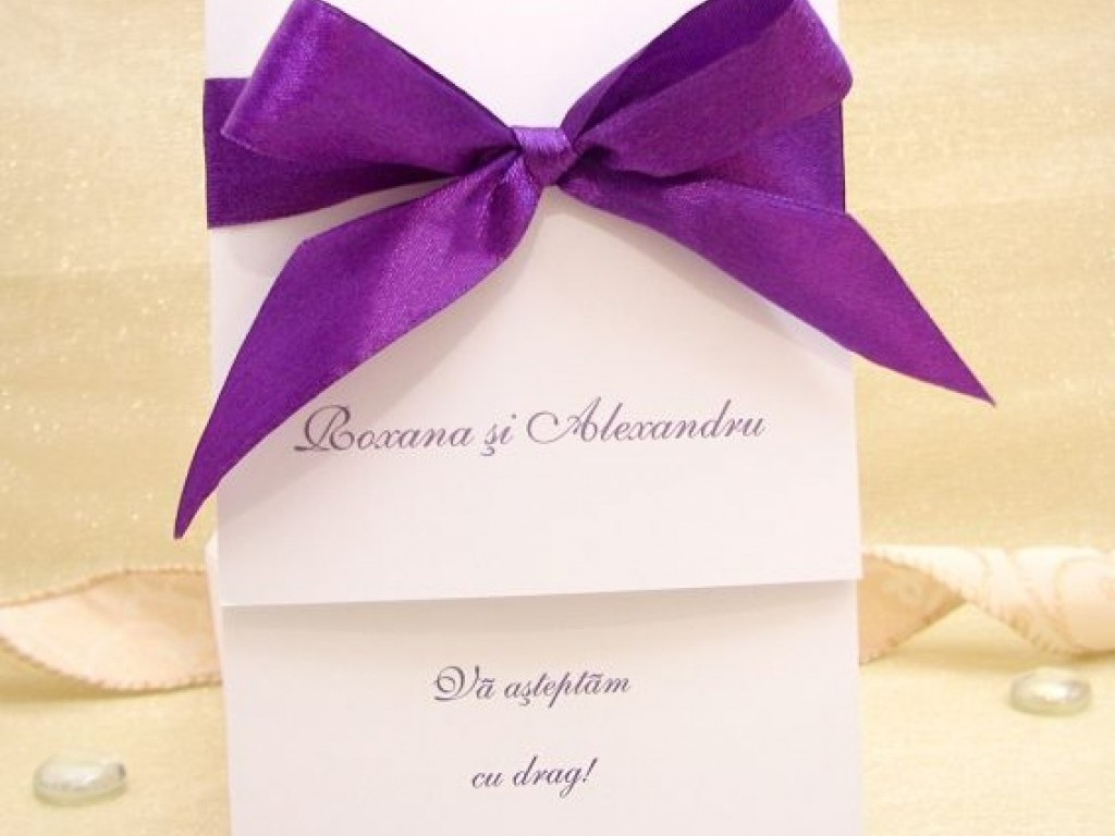 Invitatie Royal Purple
