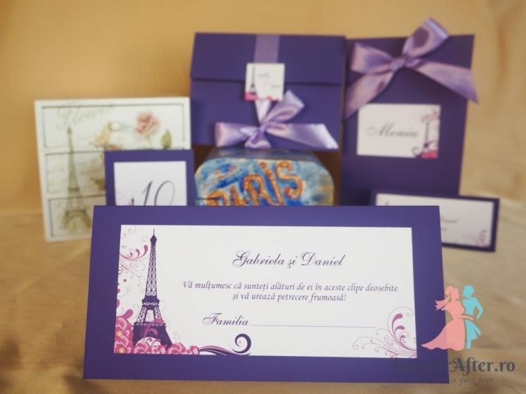 Plic de bani mov Tour Eiffel