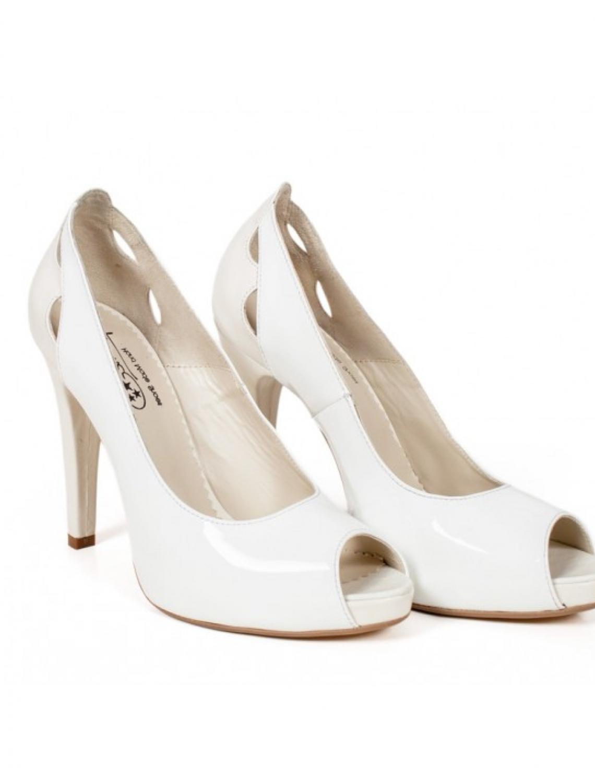 Pantofi Cu Platforma Comfort White