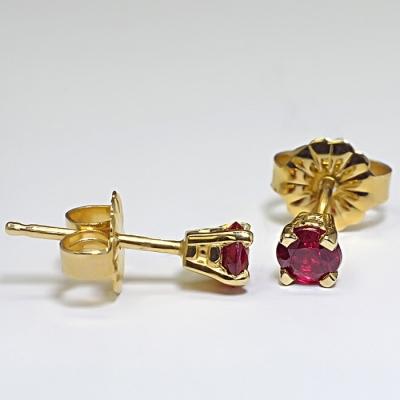 Cercei din Aur cu rubine c059RB