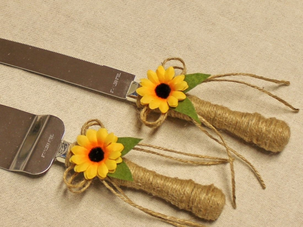 Set tort rustic floarea soarelui
