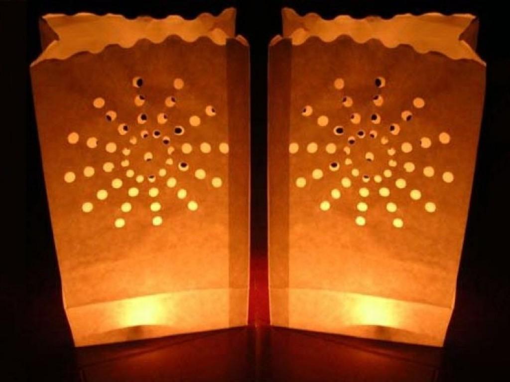 Set 10 luminarii albe