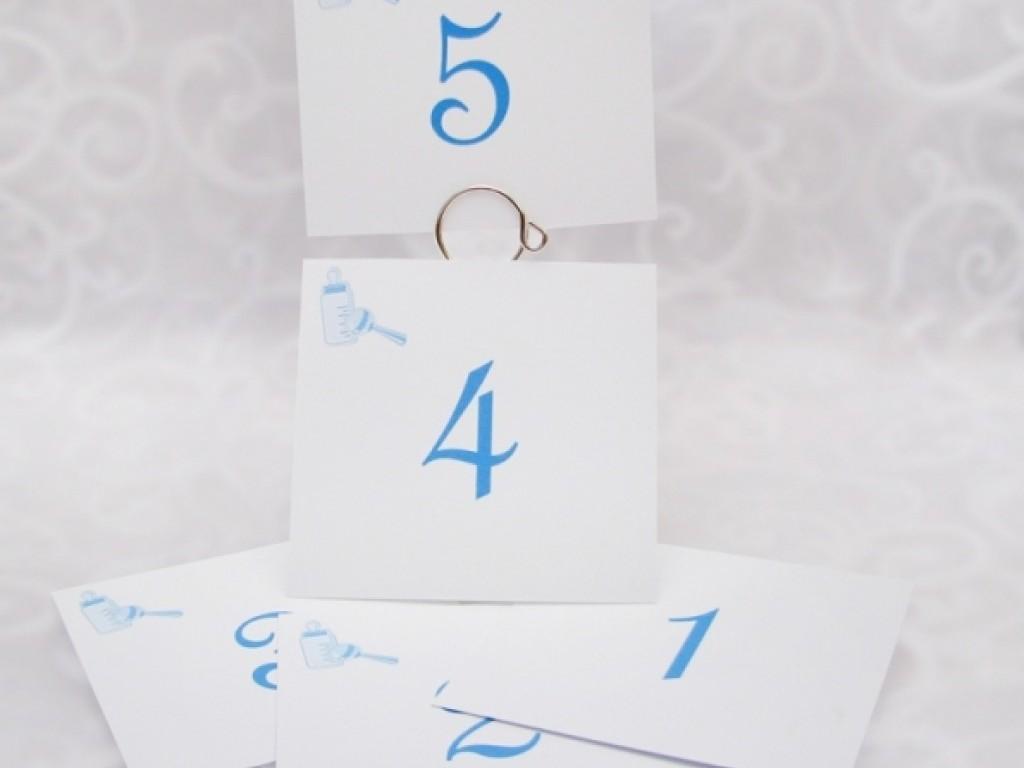 Numar de masa Blue Bow