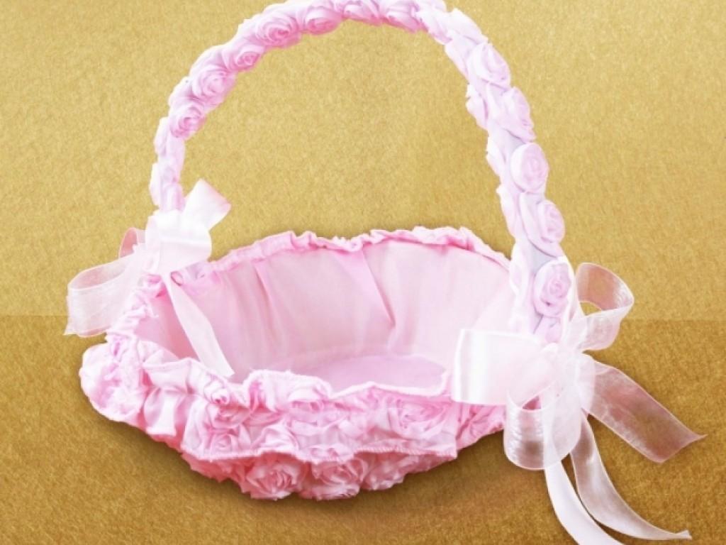 Cos pentru cruciulite roz