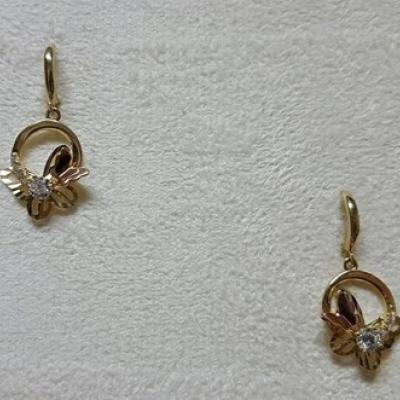 Cercei aur galben