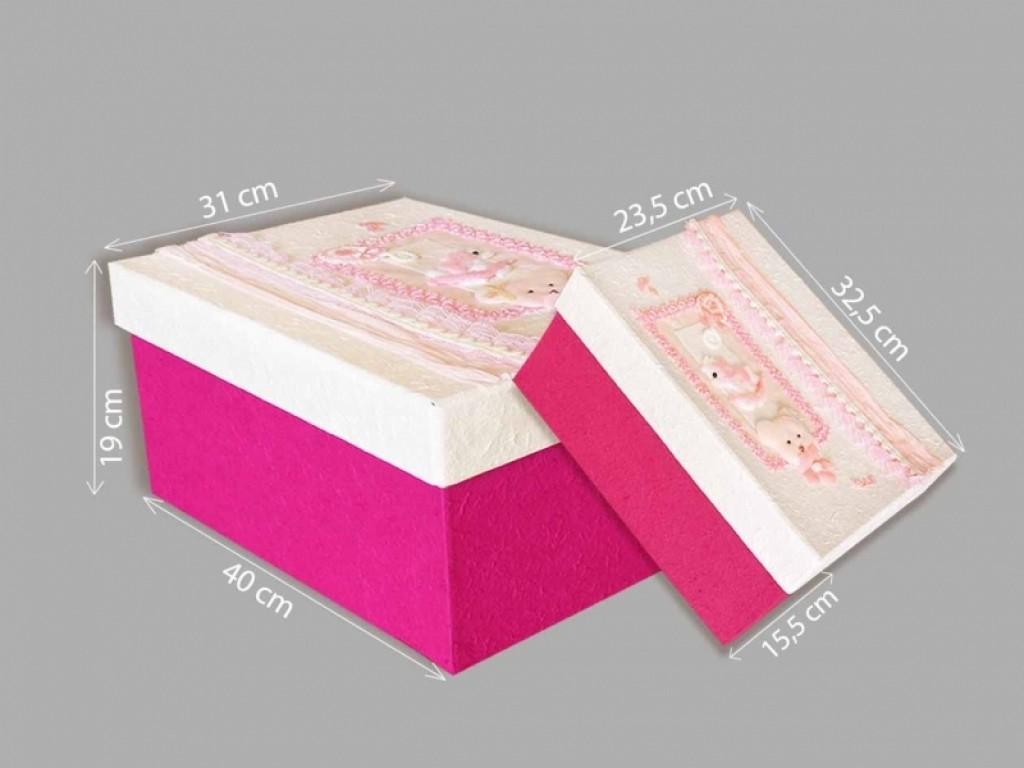Set doua cutii roz pentru trusou