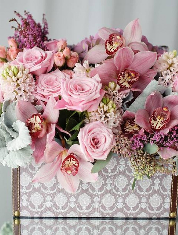 Aranjamente florale in cutii