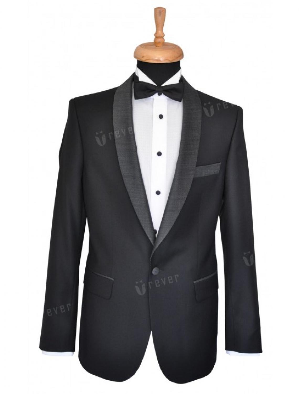 Black Tie Contrast Smoking 887
