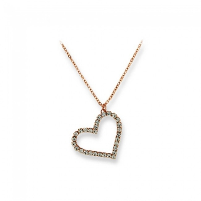 Pandantiv Dimoda Gold Crystal Clear Heart
