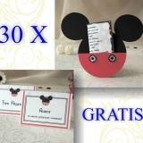 Oferta invitatii Mickey Mouse si card asezare gratuit