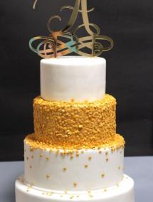 Tort de nunta cu topper personalizat