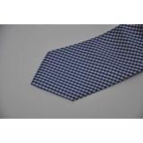 Cravata albastra cu desen gingham 10