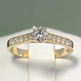 Inel de logodna din Aur cu Diamante i056DiDi