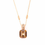Pandantiv cu lant Dream placat cu aur 24K | 5040/3-1018RG