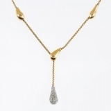Lantisor aur galben si diamante 016D