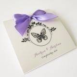 Invitatie de nunta Butterfly