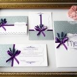 Invitatie de nunta handmade Lavanda