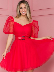 Rochie Bia rosie de ocazie