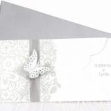 Invitatie de nunta Silver Butterfly