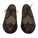 Rever Brogue wool & leather 1