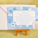 Invitatie de botez Blue Baby