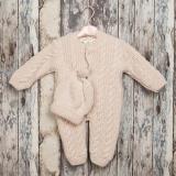 Salopeta tricotata fete 1727 Roz