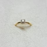 Inel aur galben 18k cu diamante. R 54