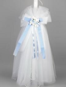 Lumanare botez bleu gemeni