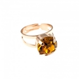 Inel November Lucky Birthstone - The Color of Your Life placat cu aur 24K | 7048-203RG