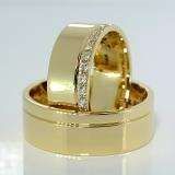 Verighete din aur cu diamante  v097
