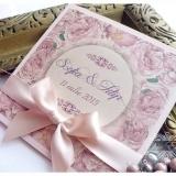 Invitatie de nunta handmade Flower Blossom – Bujori