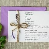Invitatie nunta lavanda