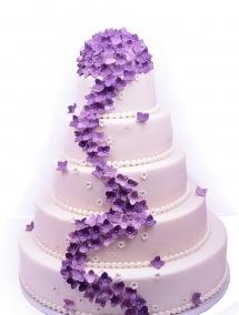 Tort de nunta hortensii