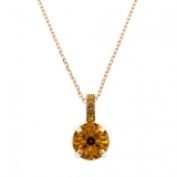 Pandantiv cu lant November Lucky Birthstone - The Color of Your Life placat cu aur 24K | 5056-203203RG