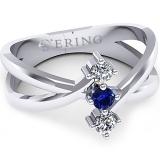 Inel logodna L123ASF inel cu diamant si safir