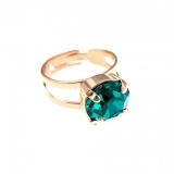 Inel December Lucky Birthstone - The Color of Your Life placat cu aur 24K | 7048-229RG