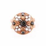 Inel Black Diamond placat cu aur 24K | 7506-747RG