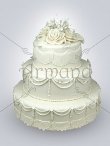 Tort de nunta Clasic alb TN052