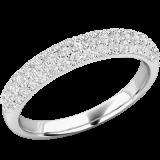 Verigheta cu Diamant/inel Eternity Dama Aur Alb, 18kt cu 52 Diamante Rotund Briliant RDW157W