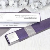 Invitatie de nunta Purple Box