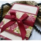Invitatie de nunta handmade Flower Blossom – Trandafiri