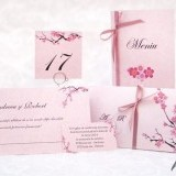 Card de confirmare cu flori de cires Cherry Blossom