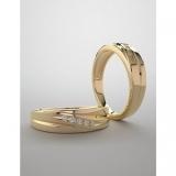 Verighete din Aur sau Platina cu diamante v980