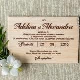 Invitatie pe lemn