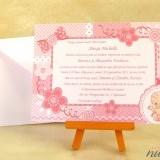 Invitatie de botez Pink Baby