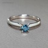 Inel de logodna din aur cu diamant albastru 017p4DB