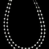 Lantisor cu Diamante Dama Aur Alb 18kt cu 63 Diamante Rotund Briliant in Setare cu Gheare HN0008W