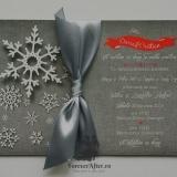 Invitatie de nunta Snowflakes