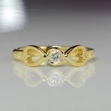 Inel de logodna sau aniversar din aur cu diamant i817